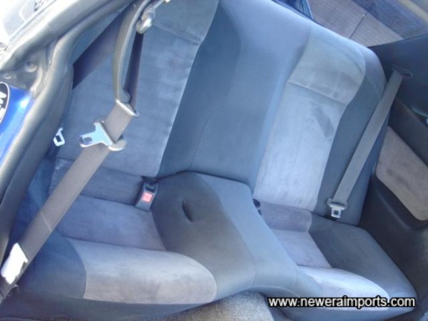 Rear seats in good condition.