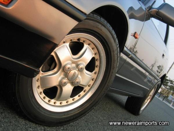 Original Mugen Alloy Wheels.