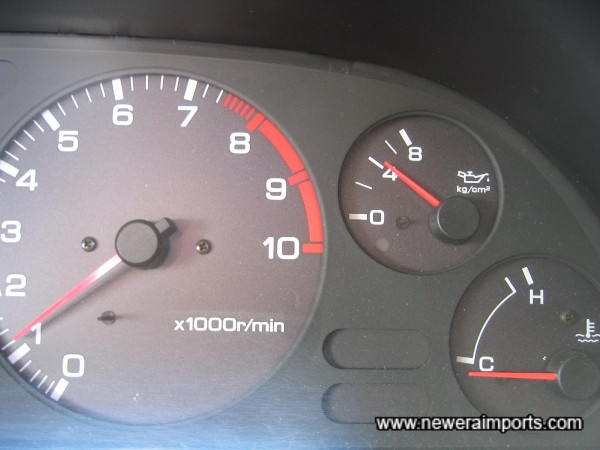 Oil pressure over 4kg/cm2 when cold - A sign of a good healthy RB26 engine.