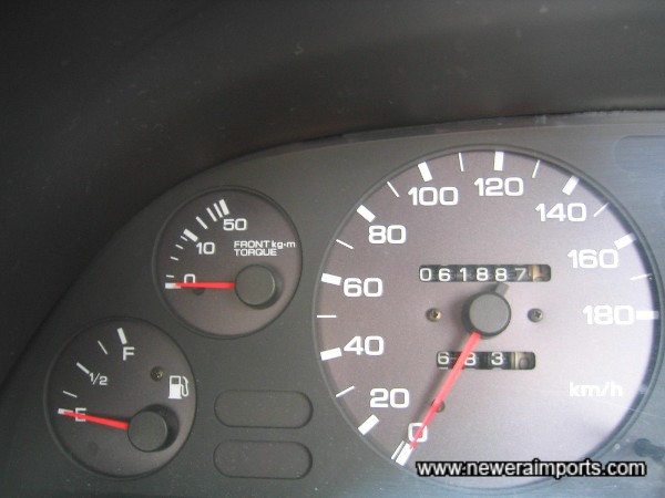 Odometer shows km - Before recalibration to miles in UK.