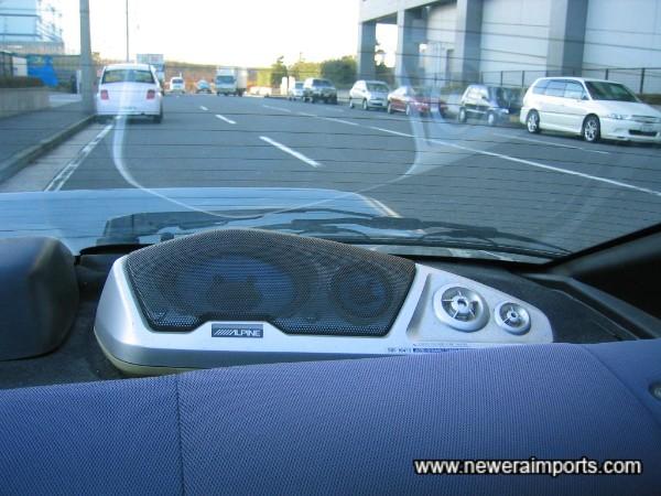 Uprated Alpine rear speakers.