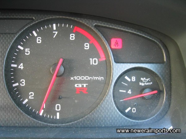 Oil pressure 2kg/cm2 when at normal operating temp. Another confirmation of a low mileage healthy engine.