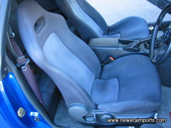 No worn through material, no saggy foam - Seats further confirm the car's low mileage.