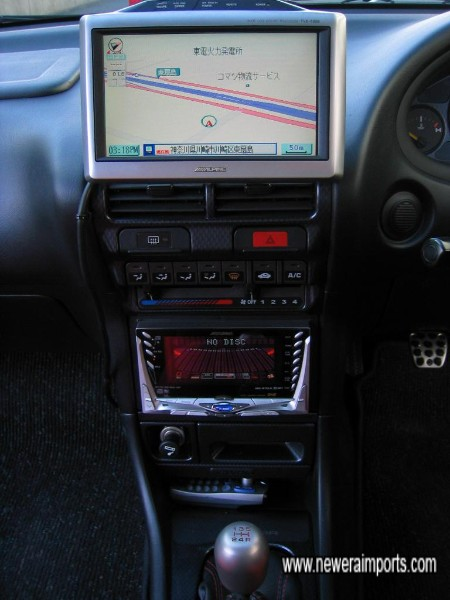 TV Sat Nav system fitted - Would not work in UK without expensive conversion.