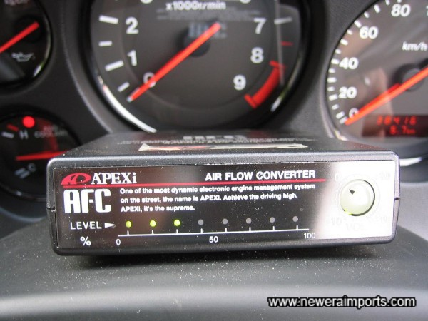 Apexi Air Flow Controller is fitted.... We recommend removing this AFC and fitting an Apexi Power FC ECU.