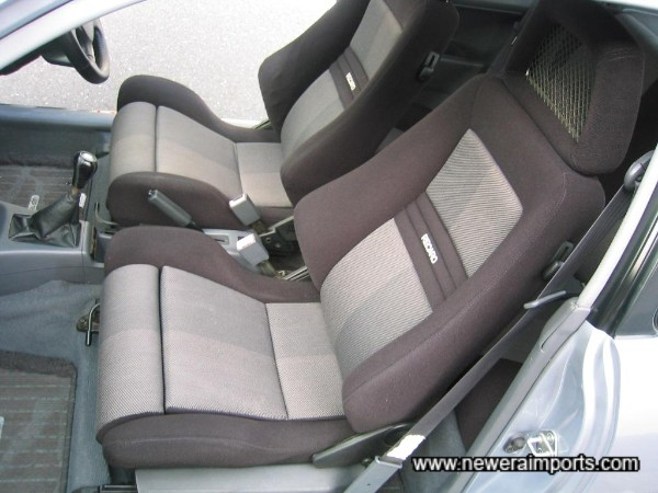 Full Recaro interior in unmarked condition.