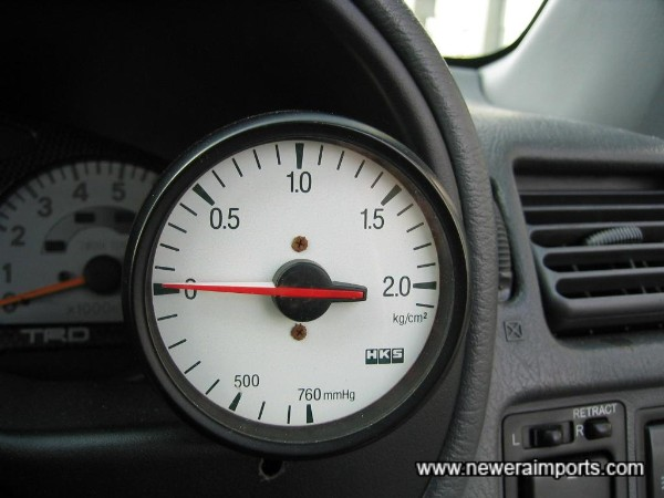 Matching HKS boost gauge.