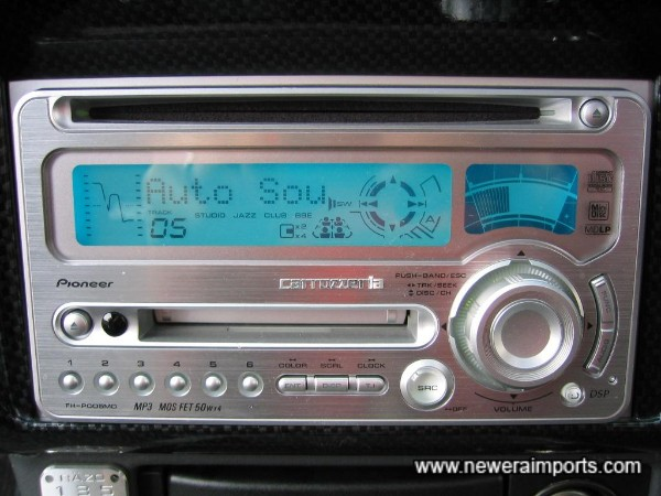 Top of the range Pioneer 200W audio with MP3, CD, MD, Radio and what looks like a built in 6 CD changer!