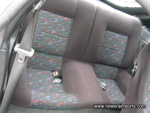Note Tops of rear seats have some bleaching from the sun.