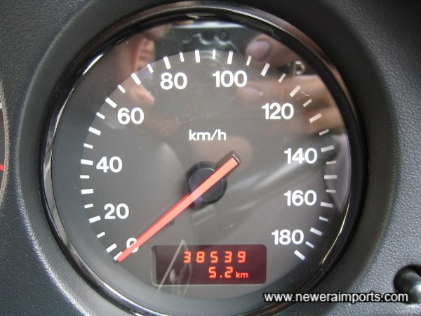 Kms shown - will show total in miles after conversion in UK