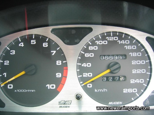 Mugen Speedometer with Mugen Alloy Dial Surround Fitted.