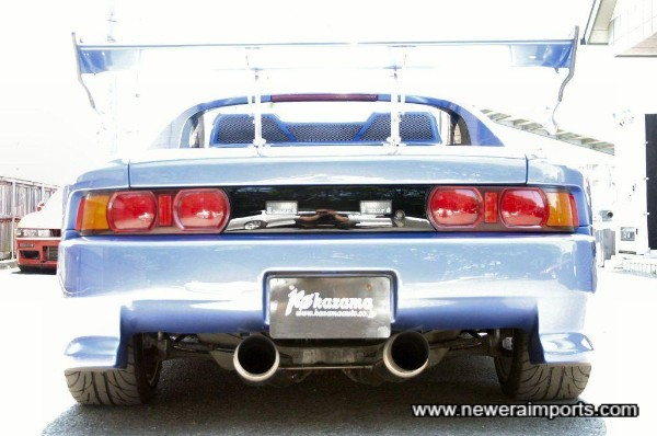 This rear end means 'business'!