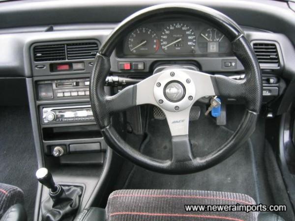 Momo Race Steering Wheel fitted.