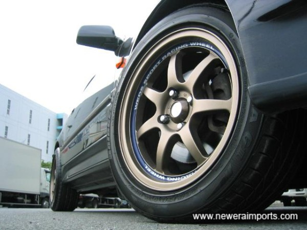 15'' Wed Sports wheels & sports tyres nearly new.