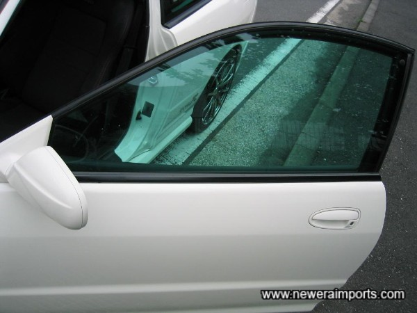Note - Tint on front windows may not be legal in UK.