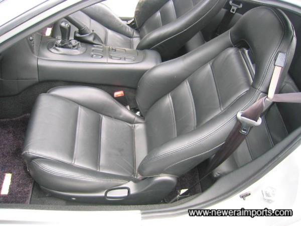 Rare leather seats.