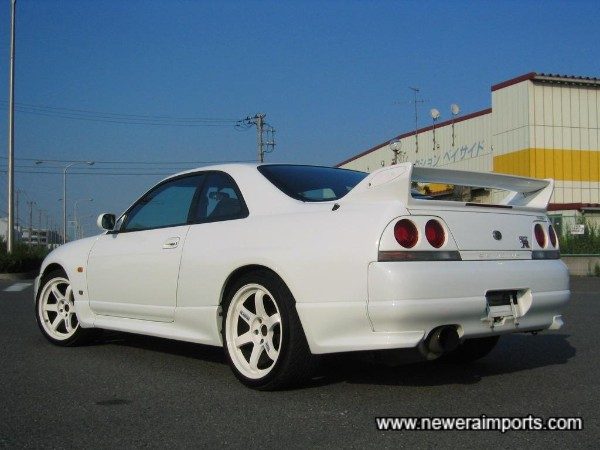 Nismo carbon inserts available for rear spoiler caps.
