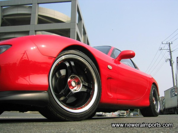 Advan Racing Forged Lightweight 17'' RA3-DT model alloys.