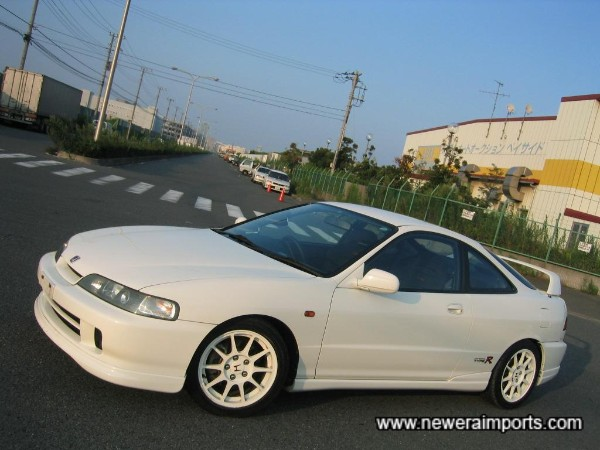 Note - Pictures were taken in dusk, so car looks darker than it really is - This is Honda Racing White!