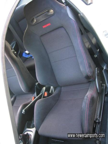 Black Recaro front seats are 'Type D' intrior trim.