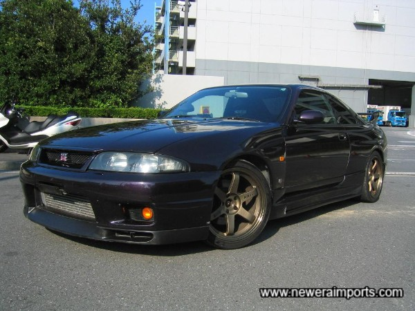 Rare to find a modified V-Spec R33 in midnight Purple!