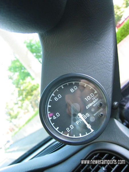 Oil Pressure - Greddy 60mm gauge.