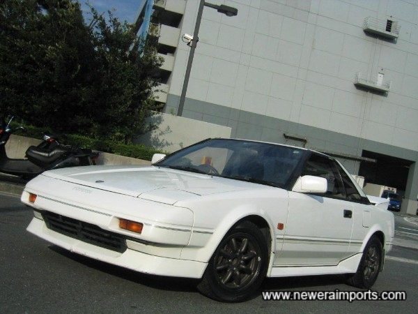 Original bodywork and entirely rust free - Very rare for an AW11 MR2!