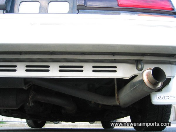 Full Cusco stainless steel exhaust system includes 4 into 1 manifold.