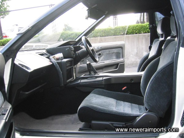 Interior is in very well preserved condition and has low wear in keeping with low genuine mileage.