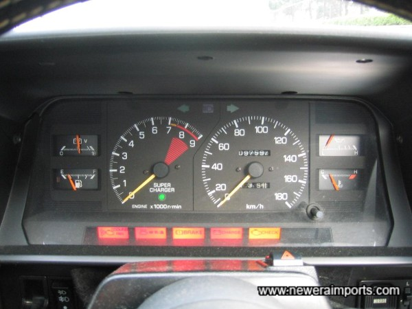 All warning lights present and correct in their functioning.