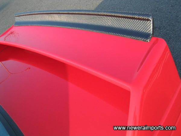 Carbon fibre Evo spoiler blade.