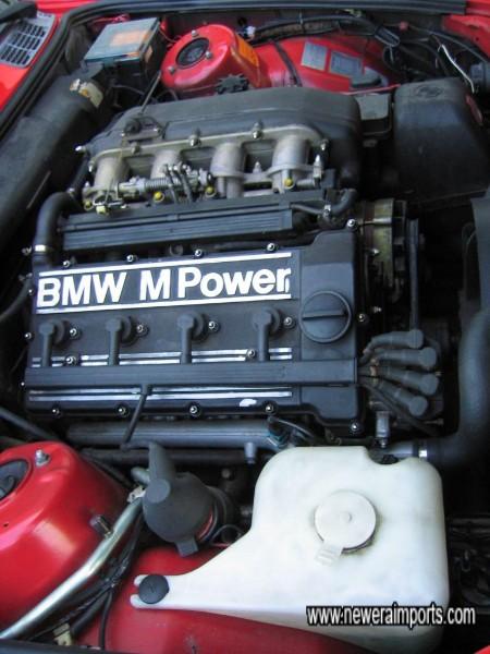 2.3 litre 16 valve high compression engine with quad throttle bodies.