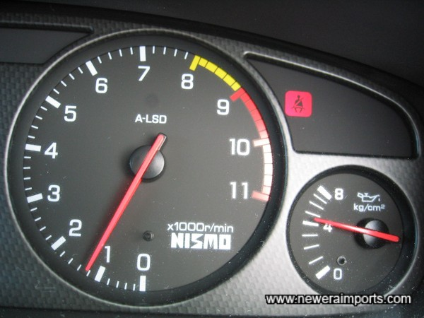 Oil pressure 5kg/cm2 at idle when cold. A sign of excellent engine health.