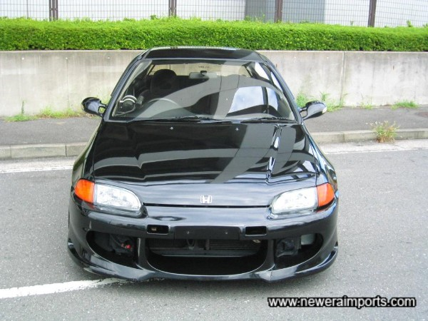 Front bumper can be meshed when repainted - for small extra cost.