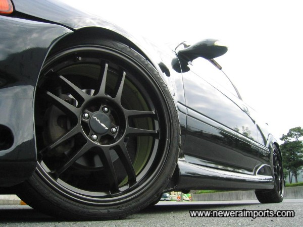Wheels suit the car's looks well. Expect plenty of attention if driving this Civic!