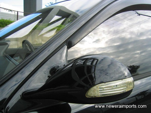 Aero Mirrors with integrated repeaters.