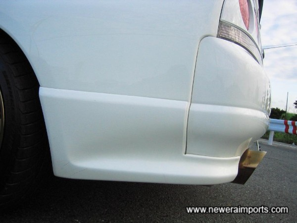 Original Nissan option rear spats.