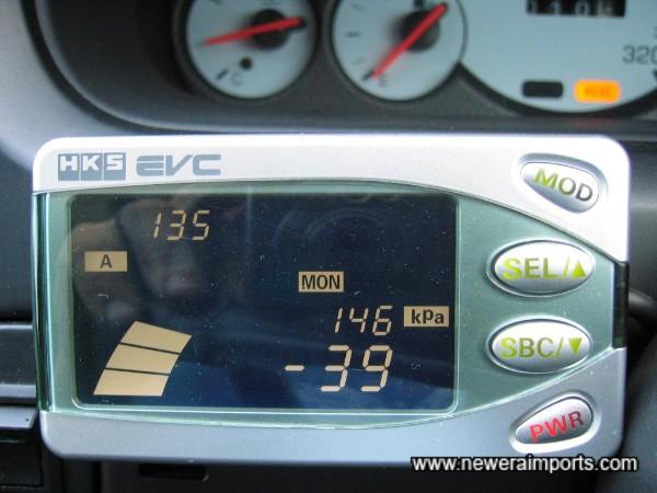 HKS EVC (Version 5) Boost Controller Display.