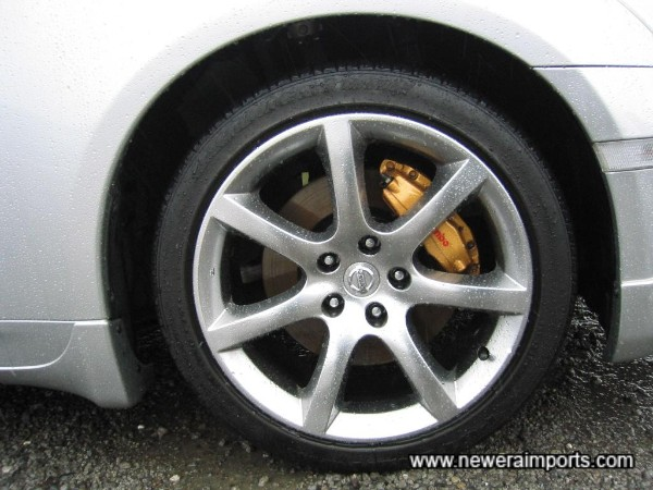 Brembo brakes (Factory option for Premium models only).