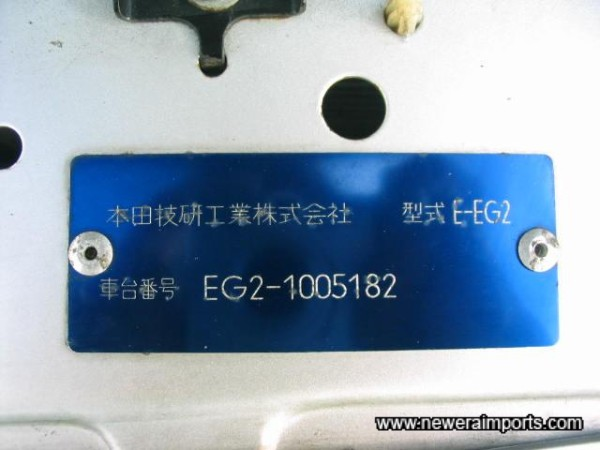 Original Chassis Plate