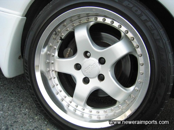 Work Equip alloy wheels (17'' size).