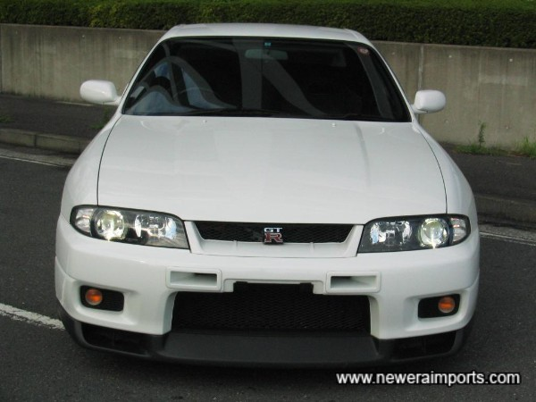 Nismo intercooler vents and later front lip.