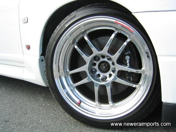 Bridgestone Potenza RE-01 tyres (near new) of size 265/35-ZR18