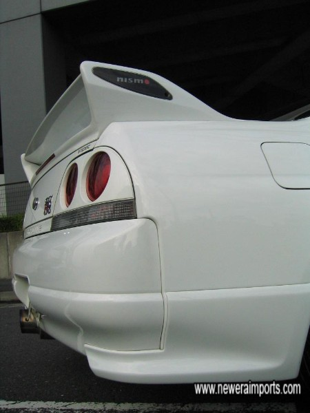Nismo rear valence sections.