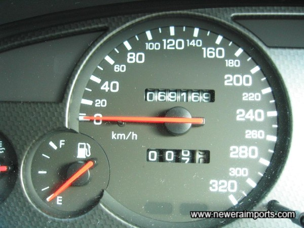 Nismo gauge cluster was fitted from brand new (See details on auction sheet).