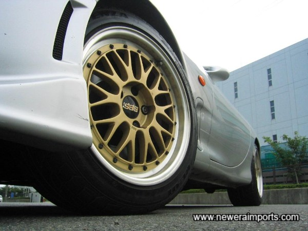 Original BBS LM 2 piece full forged alloy wheels.