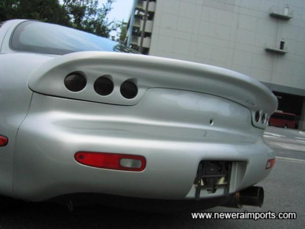 RE-Amemiya drag style rear spoiler & light grille