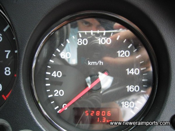Odometer shows km before conversion to miles in UK