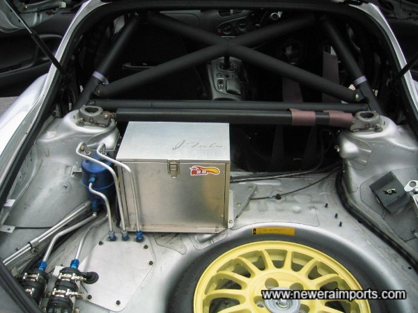 Battery relocated to the boot.