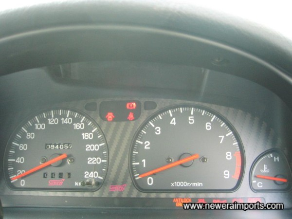 Sti 240 km/h speedo was fitted since new - as confirmed in documentation.